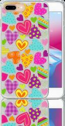 Iphone 7 PLUS/8 PLUS  MM Hearts Glitter Hybrid