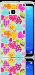 Samsung Galaxy S8  MM Hearts Glitter Hybrid