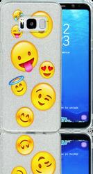 Samsung Galaxy S8  MM Emoji Glitter Hybrid