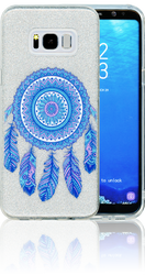 Samsung Galaxy S8 PLUS  MM Feathers Glitter Hybrid
