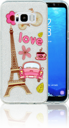 Samsung Galaxy S8 PLUS  MM Paris Glitter Hybrid