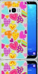 Samsung Galaxy S8 PLUS  MM Hearts Glitter Hybrid