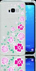 Samsung Galaxy S8 PLUS  MM Flowers Glitter Hybrid