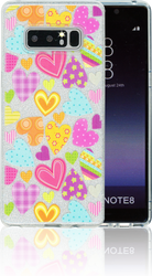 Samsung Galaxy Note 8  MM Hearts Glitter Hybrid