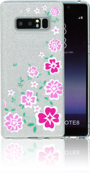 Samsung Galaxy Note 8  MM Flowers Glitter Hybrid