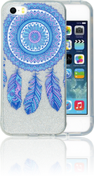 Iphone 5/5S/SE  MM Feathers Glitter Hybrid