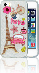 Iphone 5/5S/SE  MM Paris Glitter Hybrid
