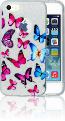 Iphone 5/5S/SE  MM Butterfly Glitter Hybrid
