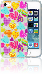 Iphone 5/5S/SE  MM Hearts Glitter Hybrid