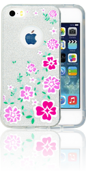 Iphone 5/5S/SE  MM Flowers Glitter Hybrid