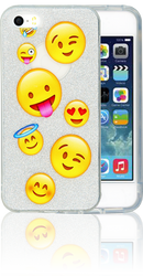 Iphone 5/5S/SE  MM Emoji Glitter Hybrid