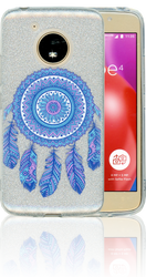 Motorola E4  MM Feathers Glitter Hybrid