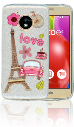 Motorola E4  MM Paris Glitter Hybrid
