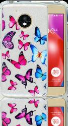 Motorola E4  MM Butterfly Glitter Hybrid