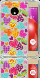 Motorola E4  MM Hearts Glitter Hybrid