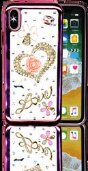 Iphone X  MM Bling 3D Heart