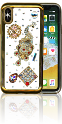 Iphone X  MM Bling 3D Peacock