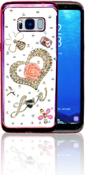Samsung Galaxy S8  MM Bling 3D Heart