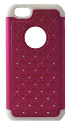 SOLD OUT Samsung Galaxy Exhibit 2013 Dual Bling Case Pink & White