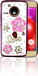 Motorola E4  MM Bling 3D Love