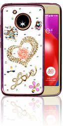Motorola E4  MM Bling 3D Heart