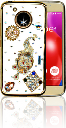 Motorola E4  MM Bling 3D Peacock