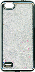ZTE Blade Force MM Electroplated Water Glitter Case With Stars Silver