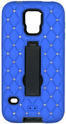 Samsung Galaxy S5 Dual Bling With Kickstand Blue