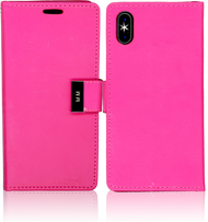Iphone X MM Premium Folio Wallet Hot Pink