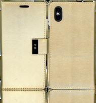 Iphone X MM Premium Folio Wallet Gold