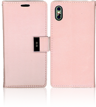 Iphone X MM Premium Folio Wallet Rose Gold