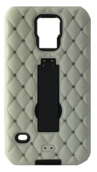 Samsung Galaxy S5 Dual Bling With Kickstand White