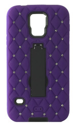 SOLD OUT Samsung Mega 6.3 Dual Bling With Kickstand Purple
