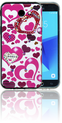 Samsung Galaxy J3 Emerge MM Electroplated Bling Heart