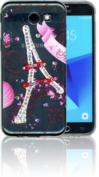 Samsung Galaxy J3 Emerge MM Electroplated Bling Paris