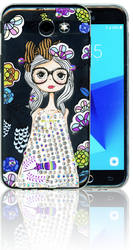 Samsung Galaxy J3 Emerge MM Electroplated Bling Girl1