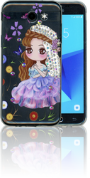 Samsung Galaxy J3 Emerge MM Electroplated Bling Girl2