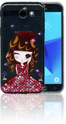 Samsung Galaxy J3 Emerge MM Electroplated Bling Girl3