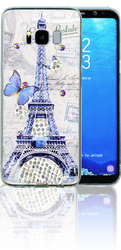 Samsung Galaxy S8 MM Electroplated Bling Paris Butterfly