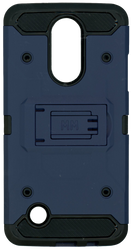 LG Aristo MM Silo Rugged Case Dark Blue(Full Covered Tempered Glass Included)