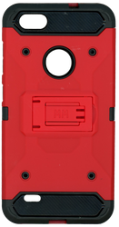 ZTE BLADE FORCE MM Silo Rugged Case RED