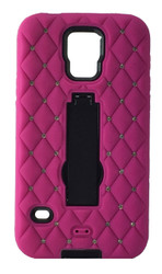HTC M8 Dual Bling With Kickstand Pink