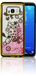 Samsung S8 PLUS Electroplated(GOLD) Pink(Owl)