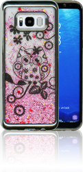 Samsung S8 PLUS Electroplated(Silver) Pink(Owl)
