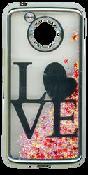 Motorola E4 PLUS Electroplated(Silver) Pink(Love)