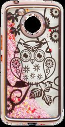 Motorola E4 PLUS Electroplated(Rose Gold) Pink(Owl)