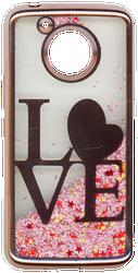 Motorola E4 PLUS Electroplated(Rose Gold) Pink(Love)