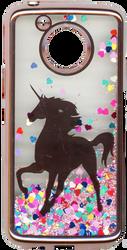 Motorola E4 PLUS Electroplated(Rose Gold) Pink(Horse) W Stars