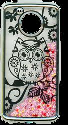 Motorola E4 PLUS Electroplated(Silver) Pink(Owl)