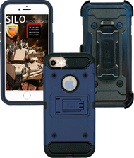 Iphone 7/6/6S MM Silo Rugged Case Dark Blue(Tempered Glass Included)